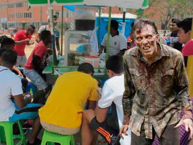 Señora del caldo confundió a zombie con un limeño con resaca y le ofreció un plato