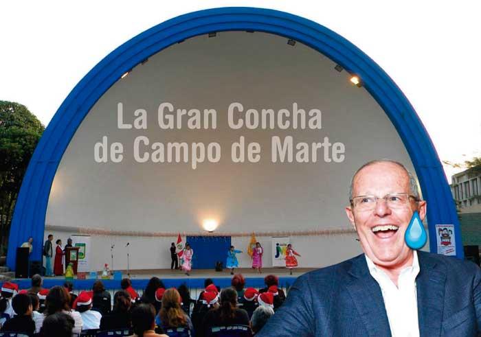 Ministerio de Cultura pide retiro de Concha Acústica porque insulta al presidente PPK