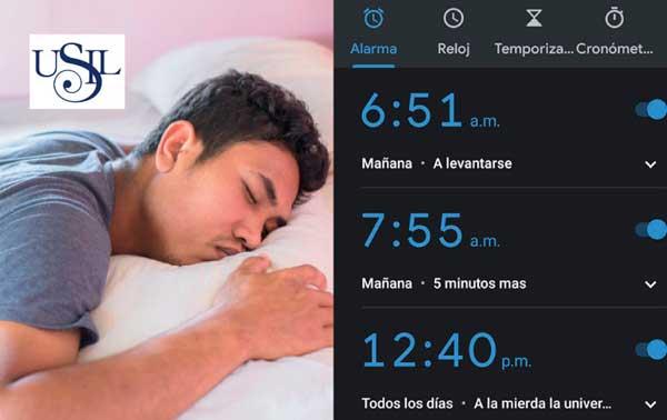 Alarma número 25 de celular aún no logra despertar a un alumno de la USIL