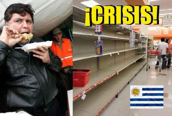 Uruguay sufre crisis económica: Estadía de Alan en embajada los dejó en la miseria
