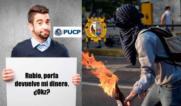 10 claras diferencias entre un manifestante de la PUCP y un sanmarquino