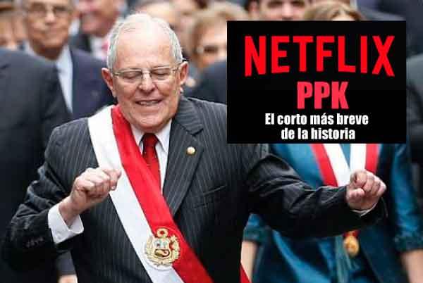Netflix afirma que la presidencia de PPK solo da para un cortometraje de diez segundos