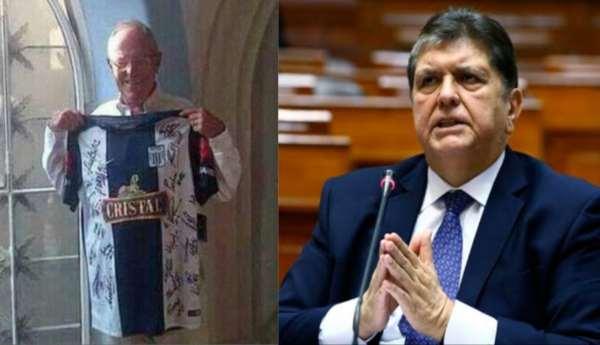 Ciudadanos se organizan para regalarle camiseta de Alianza Lima a Alan García y así se vaya a la cárcel