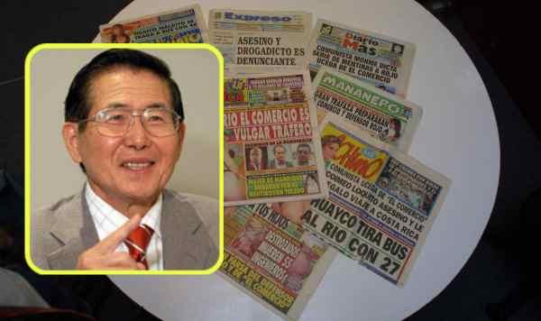 7 portadas elegantísimas de diarios chicha, fruto de la pacificación lograda por Fujimori