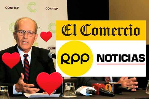 Poder Judicial reconoció matrimonio civil entre la Confiep, RPP y El Comercio