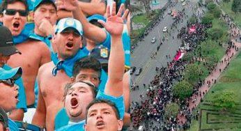 Hinchas de Sporting Cristal se sienten numerosos al ver la marcha contra Vizcarra